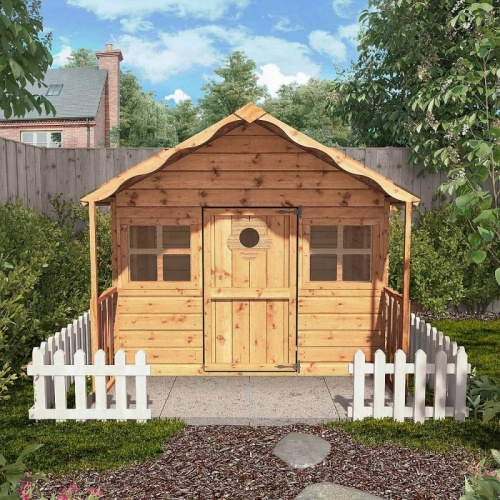6 x 6 Honey Suckle Playhouse Childrens Outdoor Wooden Play House